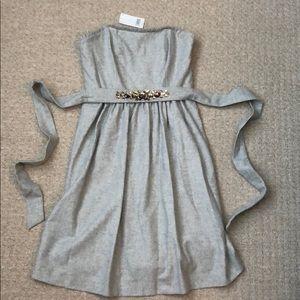 Banana Republic Strapless Dress w/ Beaded Belt NWT